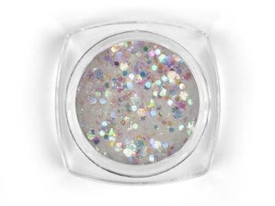 Mosaic White holo mix glitter